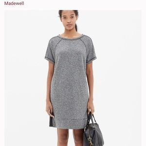 Madewell Panorama Shift Dress In black and grey
